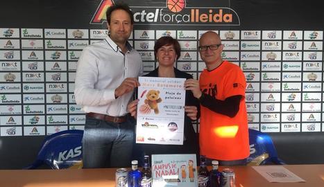 El club va presentar ahir la iniciativa solidària que ha organitzat per al partit davant del Manresa.
