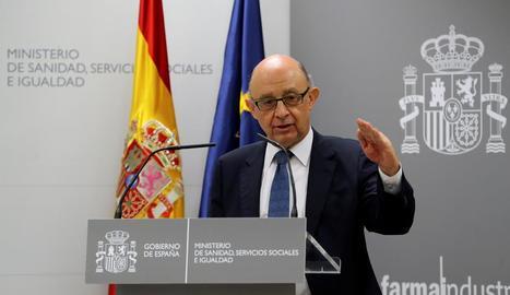 El ministre d'Hisenda i Funció Pública, Cristóbal Montoro.
