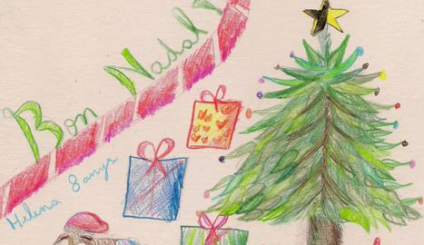 L'obra de la guanyadora de la categoria b), la Helena Bruna (8 anys).