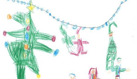 El dibuix de l'Oriol Bezares (5 anys), guanyador de la categoria a).