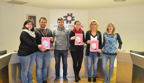 Els guanyadors del premi per incentivar l'emprenedoria.