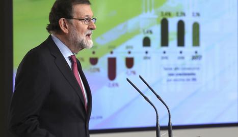 Mariano Rajoy durant la roda de premsa posterior al Consell de Ministres,