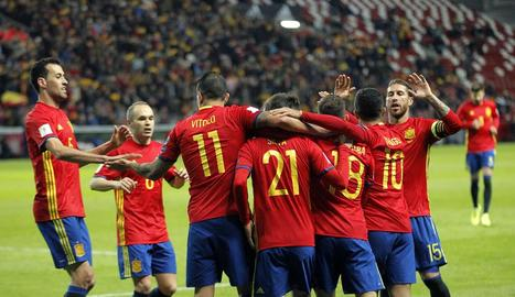 La selecció va segellar la presència a Rússia guanyant Albània.