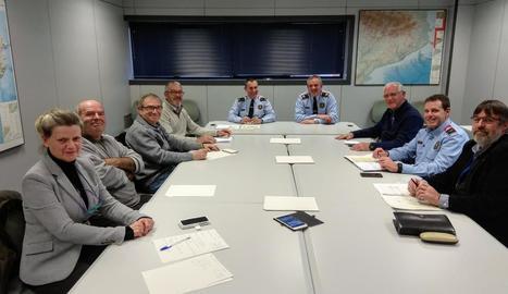 Reunió del 22 de desembre passat dels Mossos amb representants de l'Horta.