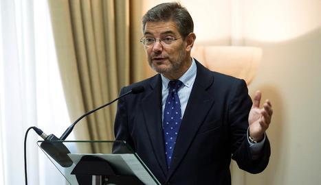 Imatge d'arxiu del ministre de Justícia espanyol, Rafael Catalá.