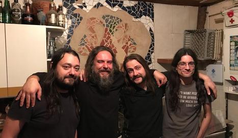 El guitarrista Albert Oliva, el productor Jordi Ayuso i el duo Milford Mocs i Gunther Cucs.
