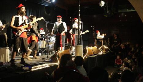 El grup lleidatà Pastorets Rock, al concert de Reis de l'any passat al Cafè del Teatre.