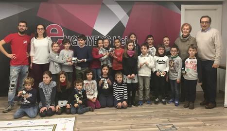 Els nens van participar ahir en les activitats creatives i tecnològiques d'Enginyers Lleida.