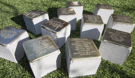 Les llambordes que s'instal·laran a la Segarra en record dels deportats a camps d'extermini.