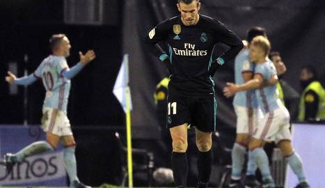 Bale, autor d'un doblet, capcot amb l'empat del Celta.