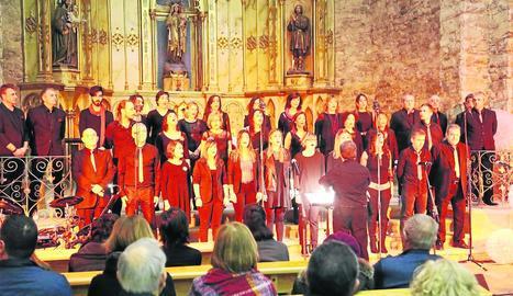 L'actuació de Ressò de l'Albada al Palau d'Anglesola.
