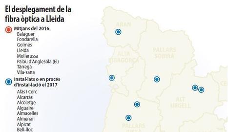 La fibra òptica s'enlaira a la fi a Lleida i passa de 8 a 40 municipis en un any