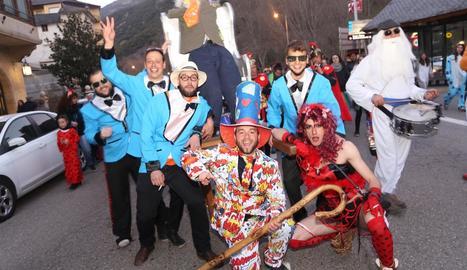 Imatge de l'any passat de la rua de Carnaval a Sort.