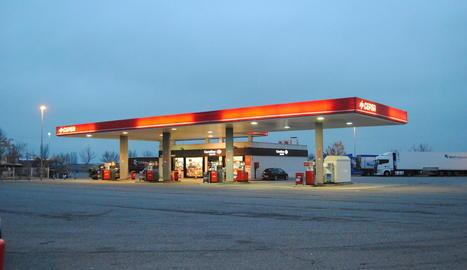 Imatge de la gasolinera en la qual es va produir l'atracament.