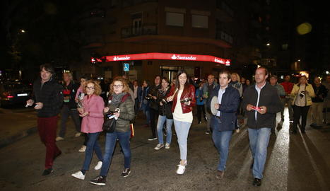 Una cassolada al barri de l'Escorxador de Lleida, el mes de novembre passat.