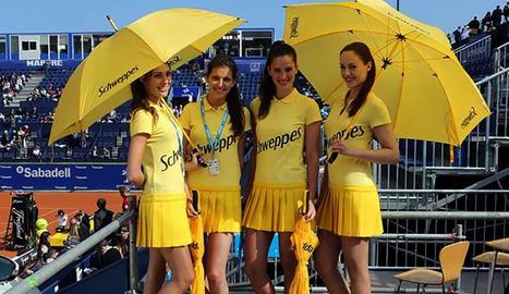 Un grup d'hostesses durant el torneig Comte de Godó passat.