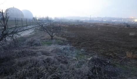 La tenda de campanya era a prop de la depuradora, a la partida Sot de Fontanet.