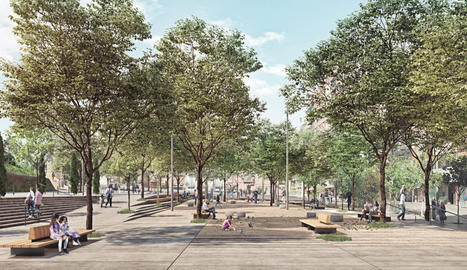 Recreació virtual de la nova plaça de l'Auditori