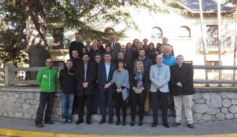 Presentació del programa Esport Blanc Escolar ahir al consell de l'Alta Ribagorça.