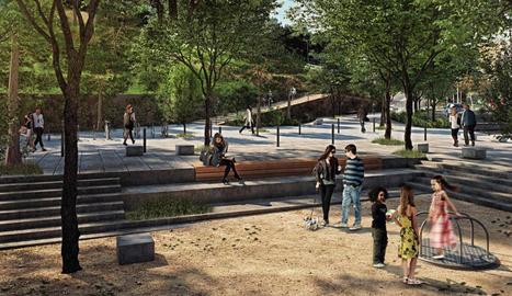 Imatge virtual del disseny de Bennasar per a la plaça Josep Prenafeta.