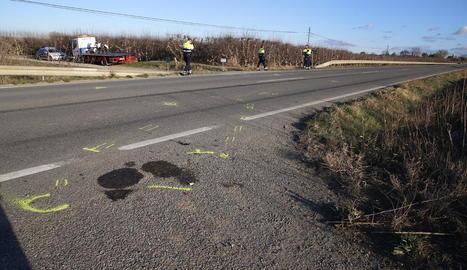 L'accident va tenir lloc ahir poc abans de les tres de la tarda a l'L-702 a Artesa de Lleida.