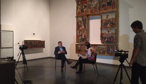 Glòria Farré entrevista Josep Giralt, director del Museu de Lleida.