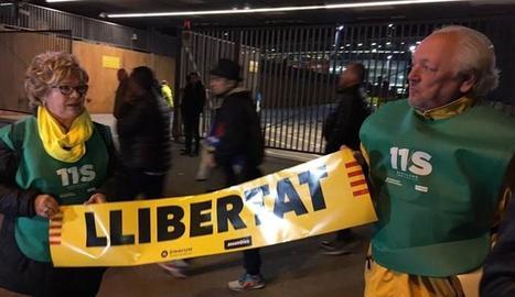 Les banderoles del Barça-Celta.