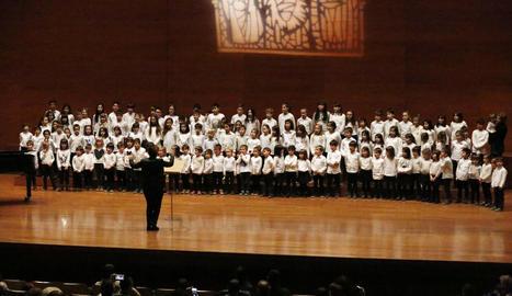 Lleida clausura el cicle de Nadal amb 150 cantaires infantils