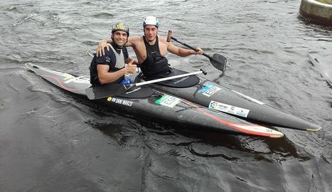 Dani Marzo i Jordi Tebé, els dos lleidatans que entrenen a l'illa de la Reunió.