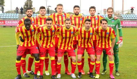 L'alineació que va presentar el Lleida diumenge al camp del Deportivo Aragón.