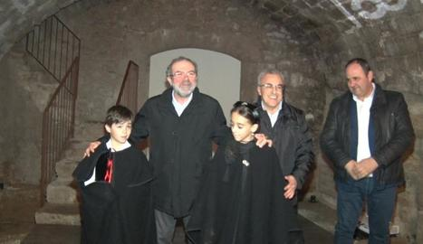 Reñé, Mir i Villas ahir a la inauguració del centre.