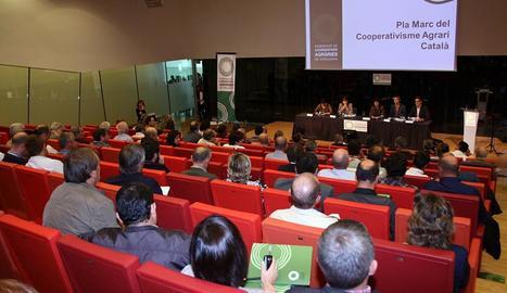 Imatge d'una reunió de la Federació de Cooperatives Agràries de Catalunya a Lleida.