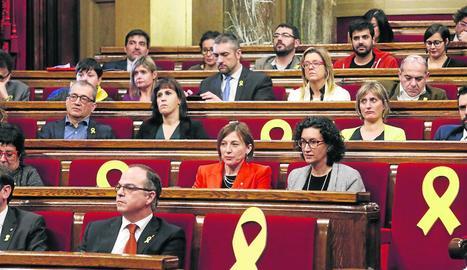 El bloc independentista busca la fórmula per investir per segona vegada Puigdemont.