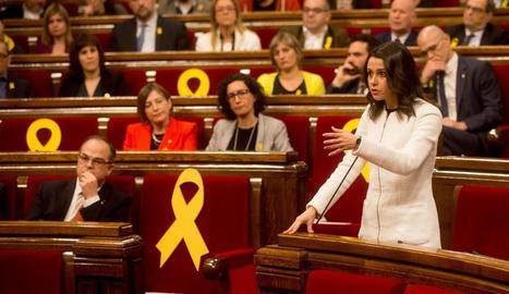 Inés Arrimadas va demanar que la Mesa reconsiderés el vot delegat.