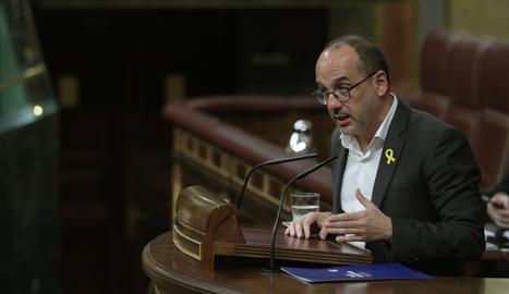 El portaveu del PDeCAT al Congrés i històric diputat a la comissió del Pacte de Toledo Carles Campuzano.
