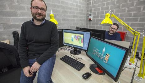 Jordi Antonijuan, ahir a l'empresa Dabadu Games, que es troba al CEI de Cervera.