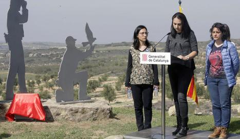 Homenatge als rurals assassinats que es va fer l'any passat a Mas de Melons, a Castelldans.
