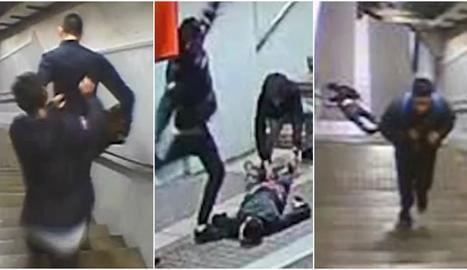Imatges de l'atac, gravades per les càmeres de seguretat.