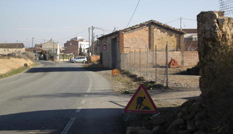 El carrer dels Erals, on s'habilita el camí escolar, al barri del Secà.