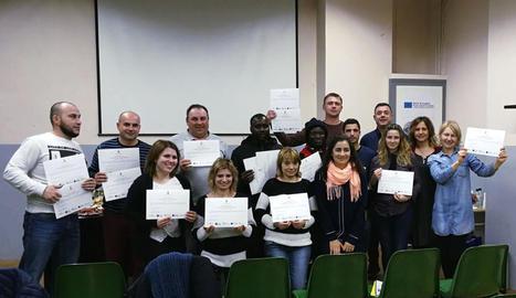 Els participants del programa Lletres per a Tothom.