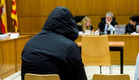 El violador de l'Eixample, durant el judici.