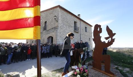 Homenatge en el primer aniversari del doble crim d'Aspa