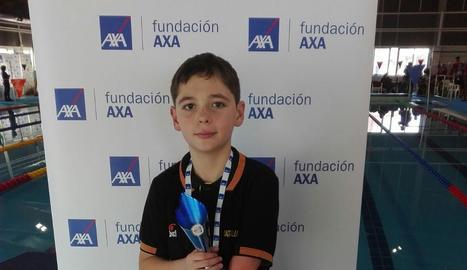Iker Ruiz va ser un dels nadadors destacats a l'Estatal.