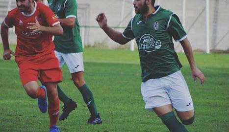 Francesc Peralta, el jugador del Mequinensa que continua greu.