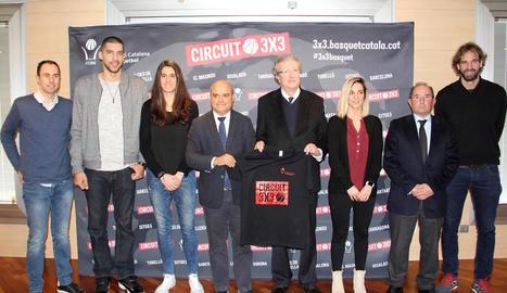 El Circuit 3x3 es va presentar ahir de manera oficial amb la presència de Jaume Comas i Roger Grimau.