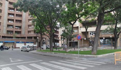La plaça Sanahuja serà una de les zones afectades per aquest projecte.