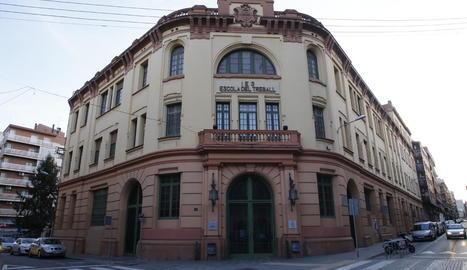 L'Escola del Treball de Lleida, on s'intervindrà la teulada.