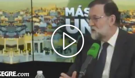 VÍDEO. Relliscada de Rajoy al parlar de
