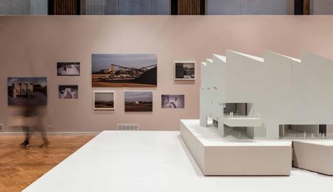 Una vista de l'exposició del projecte 'Planta' a la Biennal d'Arquitectura de Chicago.