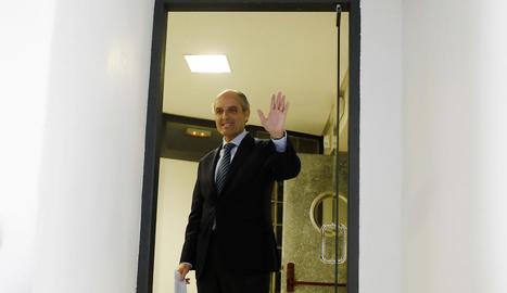 L'exsecretari general del PP valencià Ricardo Costa, ahir, a l'Audiència Nacional.